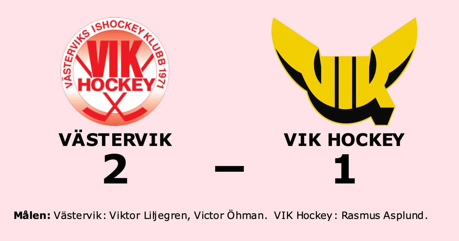 VIK Hockey föll i straffläggningen borta mot Västervik