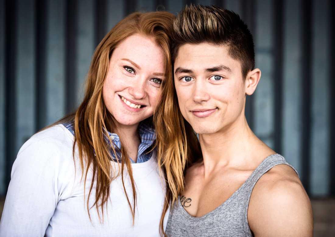 Alexander Hermansson och Caroline Hermansson.
