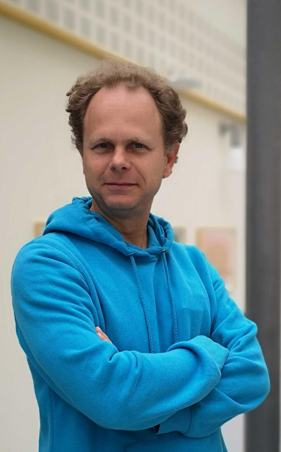 Martin Olsson upptäckte igelkotten och räddade den.