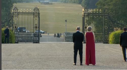 Spänd väntan vid Blenheim Palace i Oxfordshire – strax innan amerikanske presidenten anlände