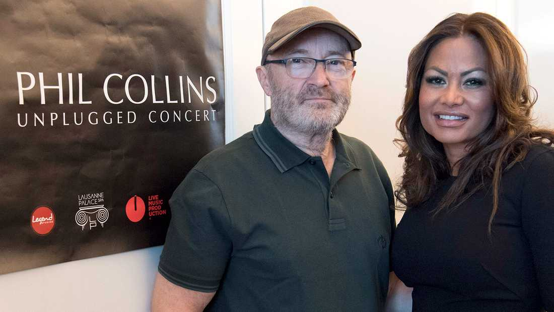 Phil Collins med exfrun Orianne Cevey 2016.