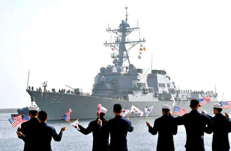 USA och Sydkorea under deras årliga militärövning tillsammans.