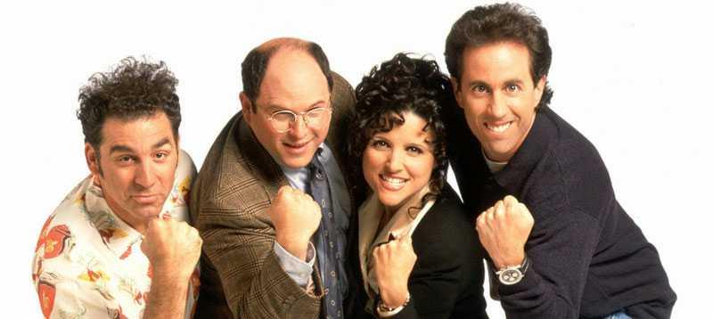 Michael Richards, Jason Alexander, Julia Louis-Dreyfus och Jerry Seinfeld.
