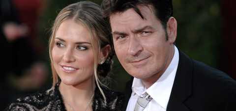 Charlie Sheen tillsammans med sin fru Brooke Mueller.