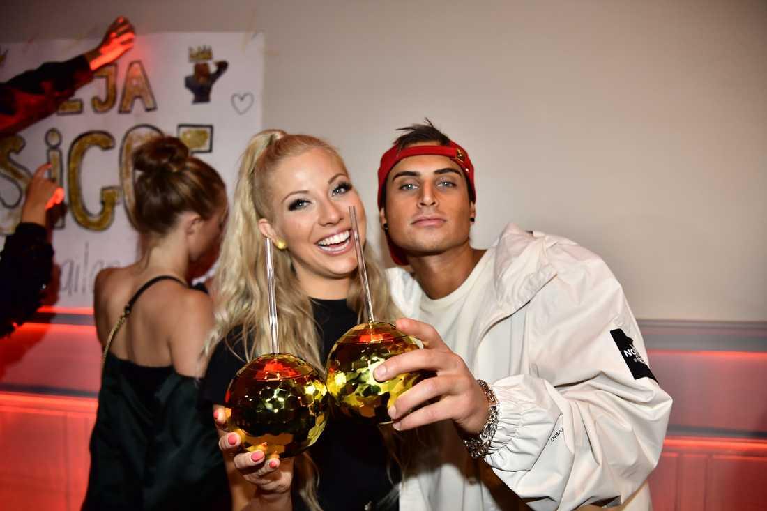 Sigrid Bernson och Samir Badran passade också på att festa loss. Sigrid gick vidare till andra chansen.