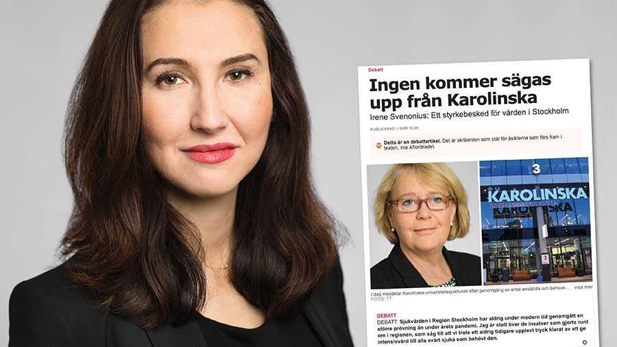 """Det låter i och för sig bra att man nu """"stoppar"""" varslen på Karolinska. Men sanningen är att skadan redan är gjord. Varslen stoppas på grund av att personalen flytt, skriver Aida Hadžialić."""