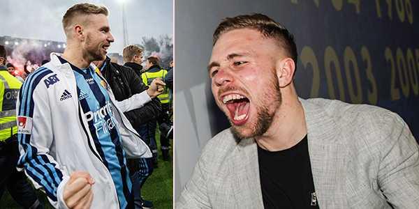 Jonathan Ring efter SM-guldet med Djurgården.