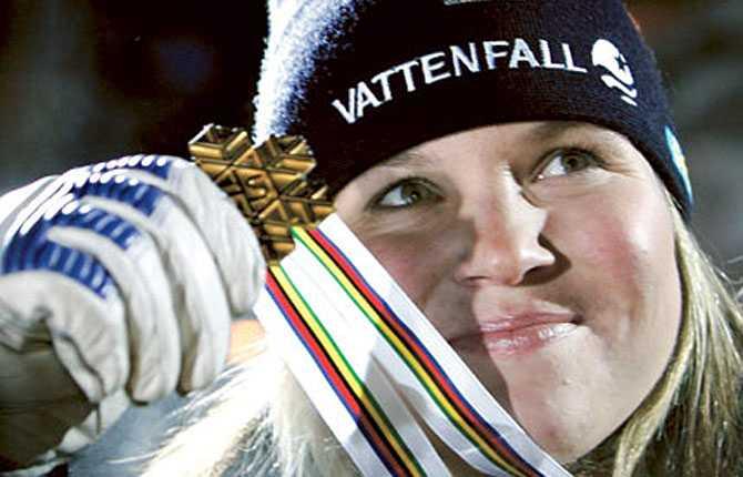 Åre(t)s första VM-guld Anja med super G-medaljen.