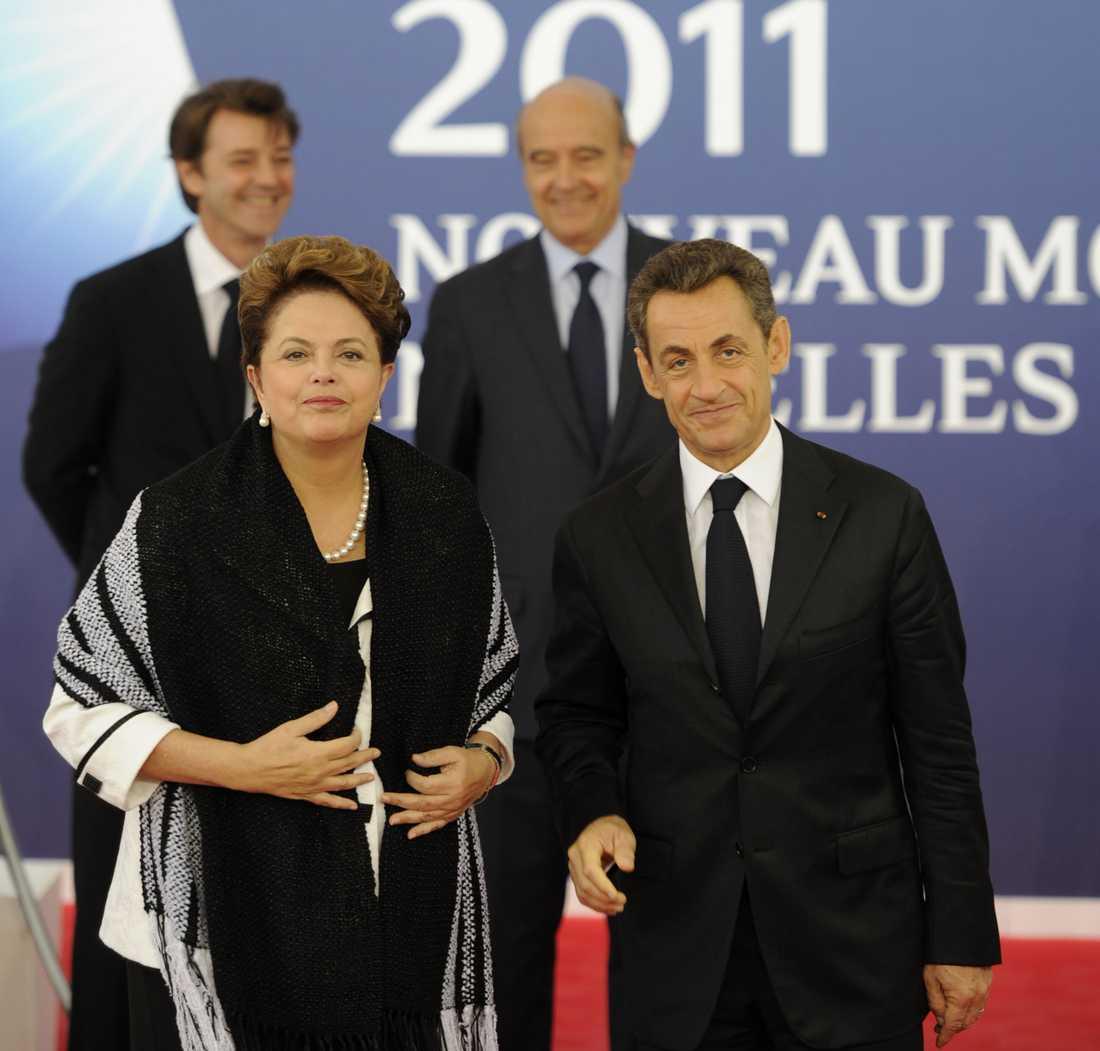 Brasiliens president Dilma Rousseff har också kommit till Cannes.