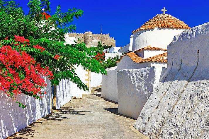 Det tusenåriga klostret i Patmos befolkas än i dag av munkar.