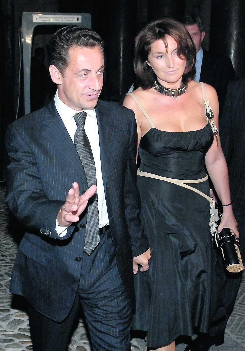 Nicolas och Cecilia när de var gifta.