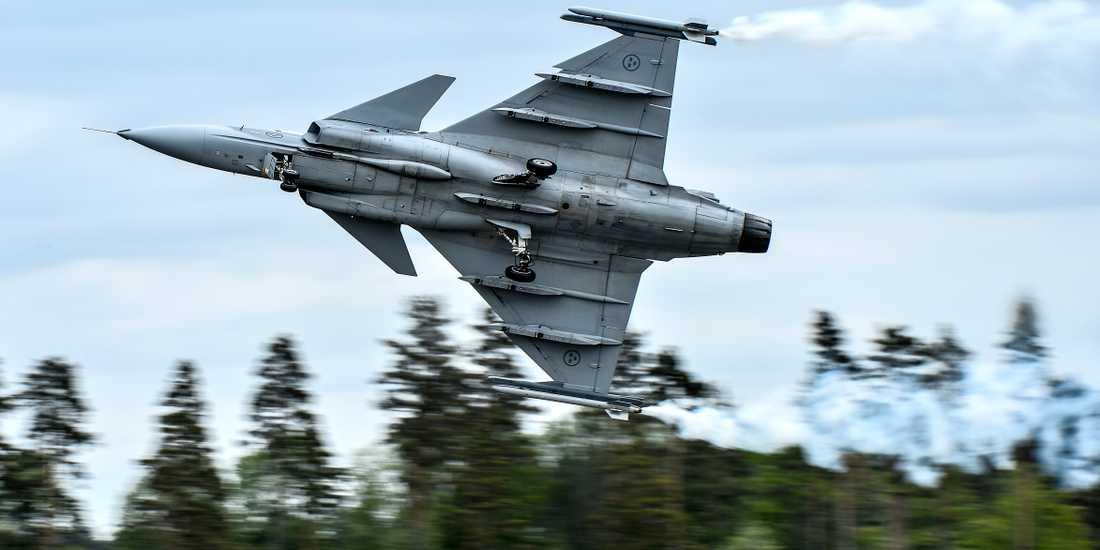 Arkivbild. JAS 39C uppvisningsflyger i Linköping.