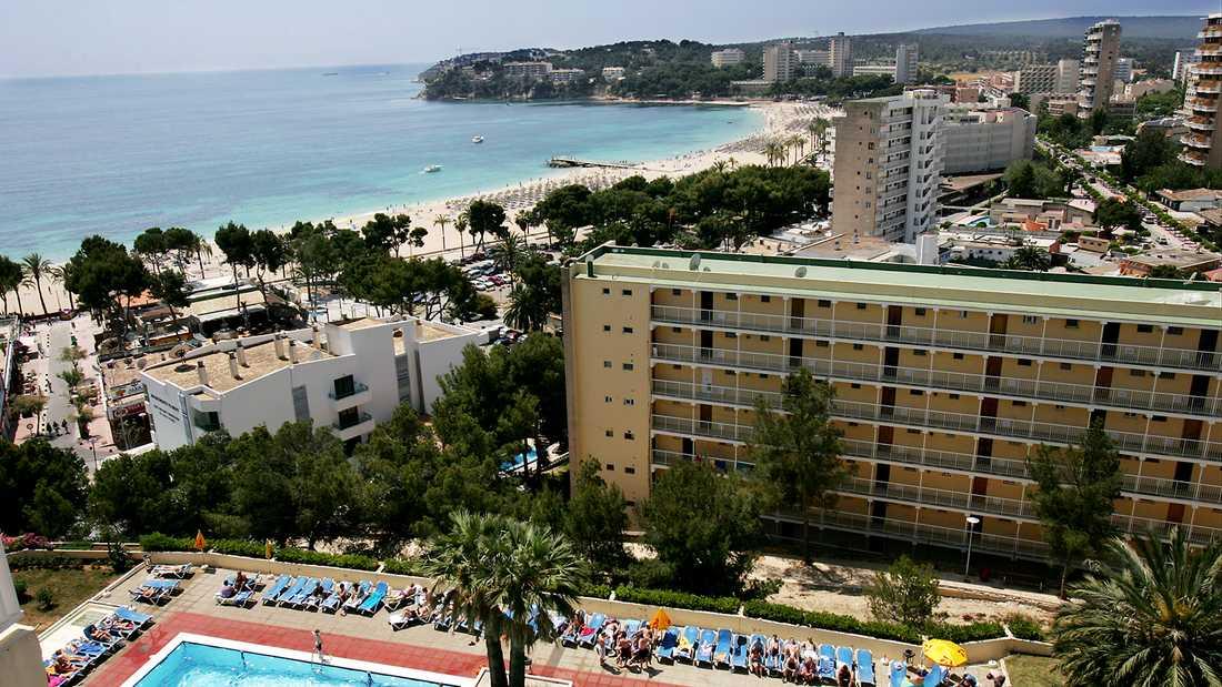 Semesterorten Magaluf på Mallorca.