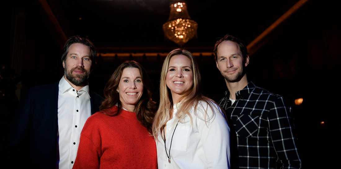 Peter Forsberg, Magdalena Forsberg, Anja Pärson och Anders Södergren