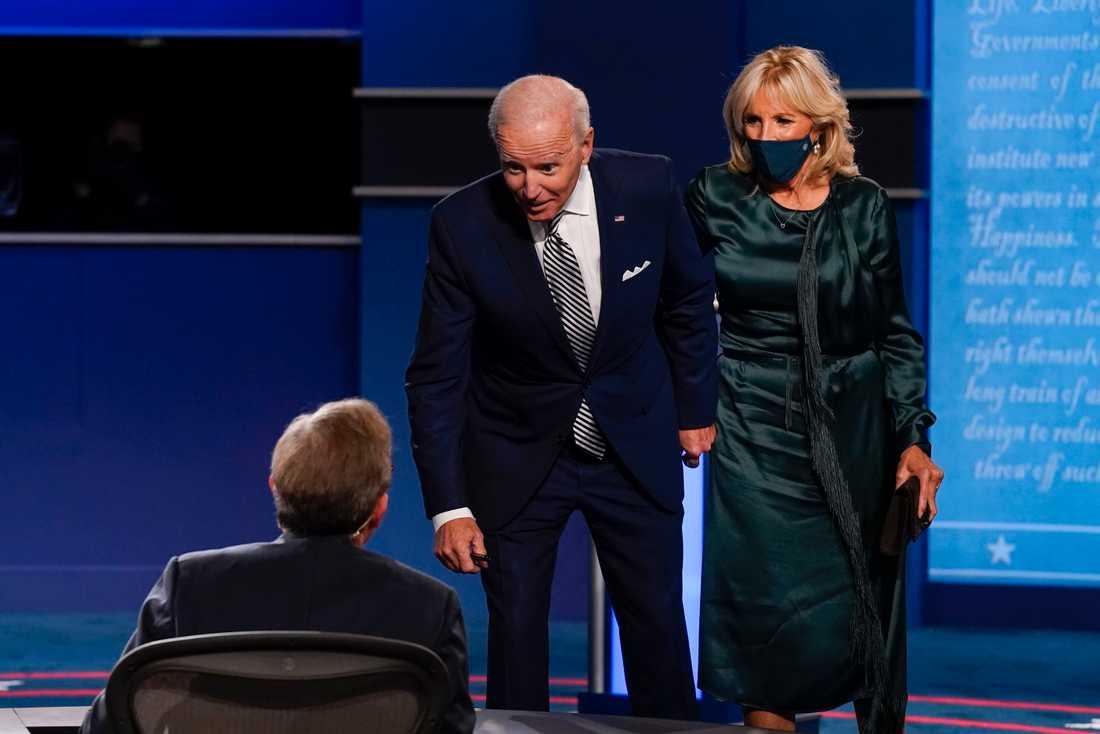 Joe Biden efter debatten.