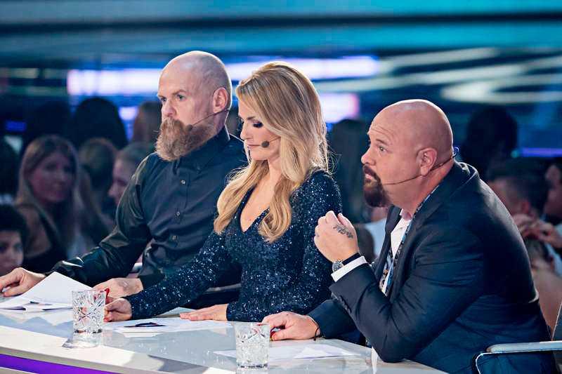 "Alexander Bard, Laila Bagge och Anders Bagge i ""Idol""-juryn."