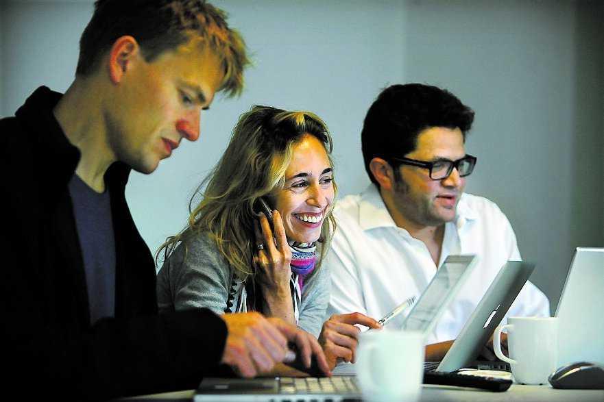 Newsmills redaktörer PM Nilsson, Karin Eder-Ekman och Leo Lagercrantz.
