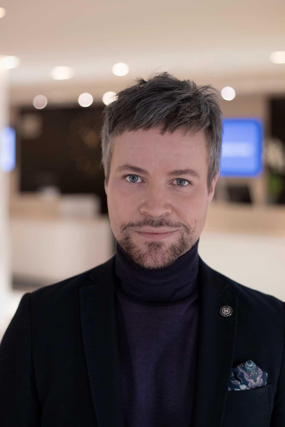 Benjamin Falk, marknadsansvarig på Sheraton.