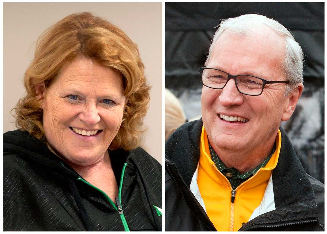 Demokrate Heidi Heitkamp försvarar sin senatsplats för North Dakota mot utmanaren Kevin Cramer, Republikanerna. Montage