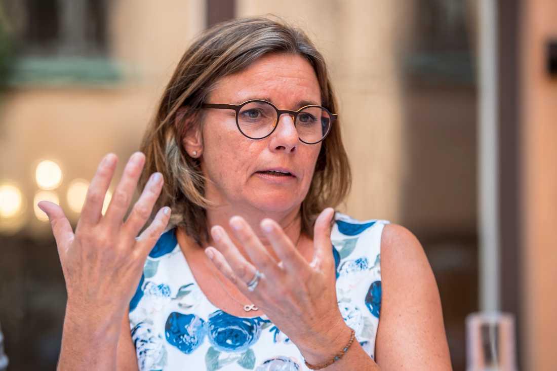 Miljöpartiets språkrör, Isabella Lövin.