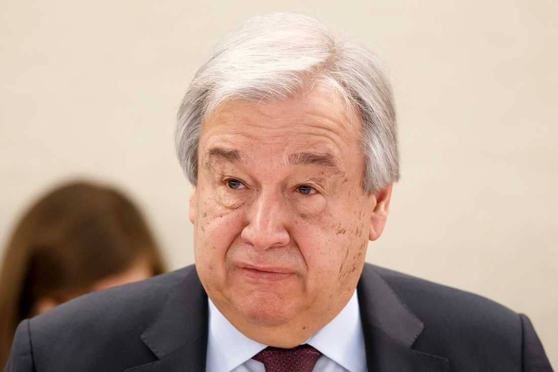 FN:s generalsekreterare António Guterres. Bild från januari.
