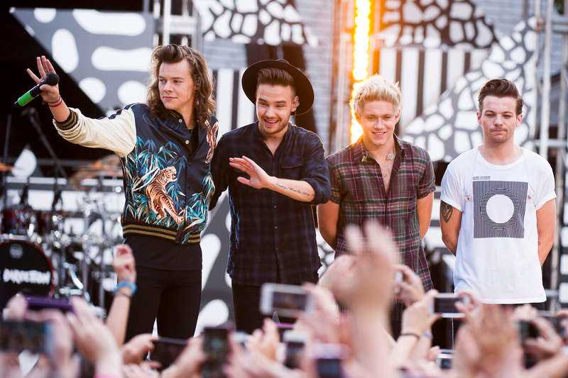 Harry Styles, Liam Payne, Niall Horan och Louis Tomlinson i One direction.