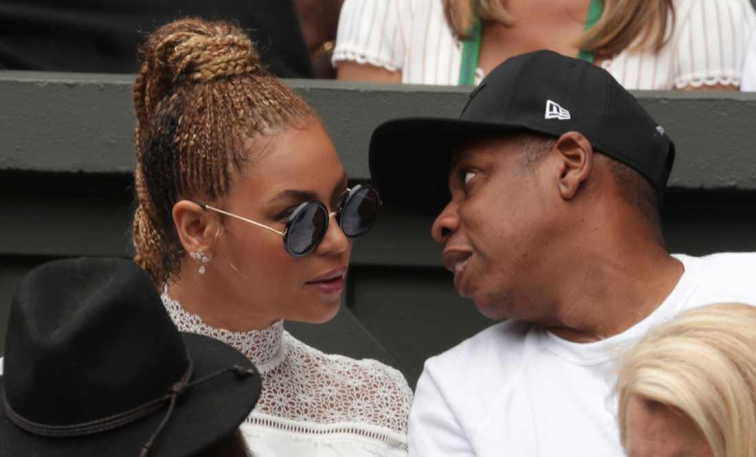 Beyoncé tillsammans med maken Jay-Z.