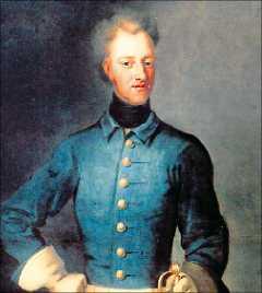 1718 Den 30 november stupade den unge Karl XII vid Fredrikshald. Snabbt spreds ryktet att han mördats. Kungens kista har öppnats flera gånger och hans skalle undersökts på alla upptänkliga sätt. Nu är det snart dags igen. Målning: DAVID VON KRAFFT