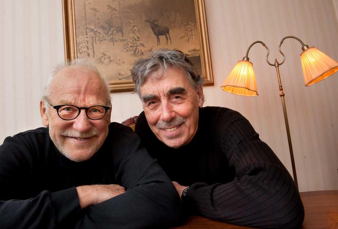 Jon Skolmen tillsammans med Lasse Åberg.