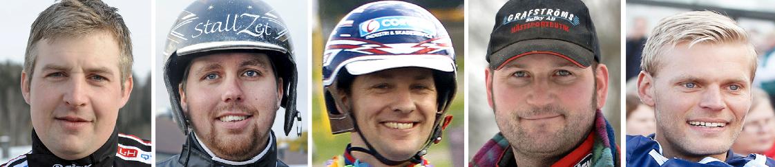 Jimmy Jonsson, Daniel Redén, Erik Lindegren, Krister Jakobsson och Johan Arneng
