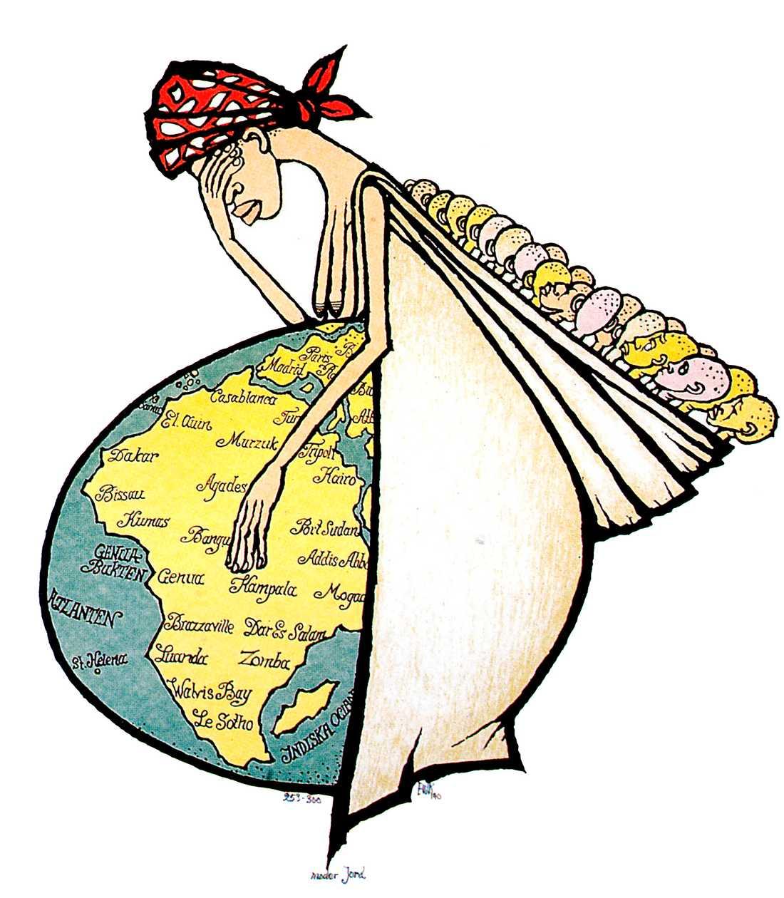 """""""Moder Jord"""", en av EWK:s mest kända teckningar."""