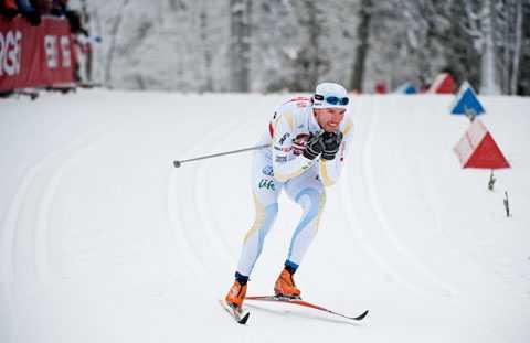 OS-KLAR Björn Lind tog sig till final i dagens sprint.