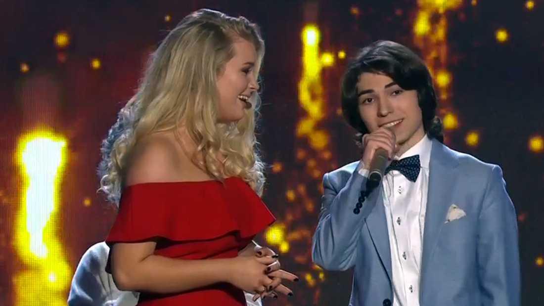 """Ibrahim tackar efter att ha blivit klar för final i """"Talang""""."""