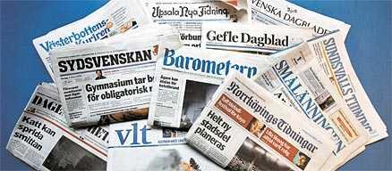 Högerdominans Dagspressen i Sverige består till största delen av borgerliga tidningar. Här är några exempel.