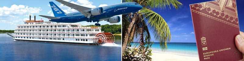 En ny hjulångare, plastplanet Dreamliner, karibiska stränder och nya svenska pass är några av ingredienserna 2012.