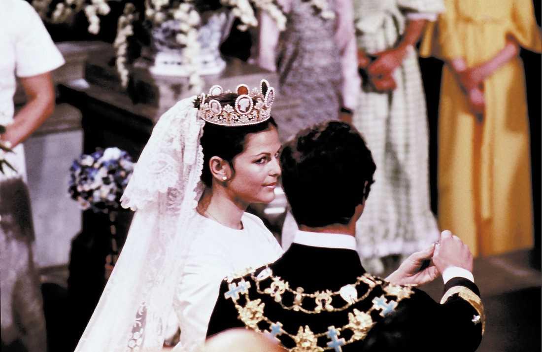 Historiskt Den 19 juni 1976 sa Silvia Sommerlath ja till kungen i Storkyrkan i Stockholm.