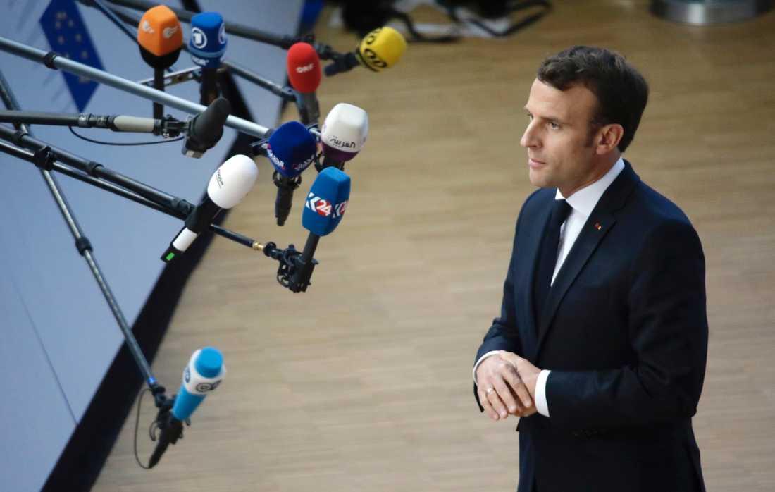 Frankrikes president Emmanuel Macron tillhör de mest skeptiska till att ge Storbritannien en lång brexitförlängning.