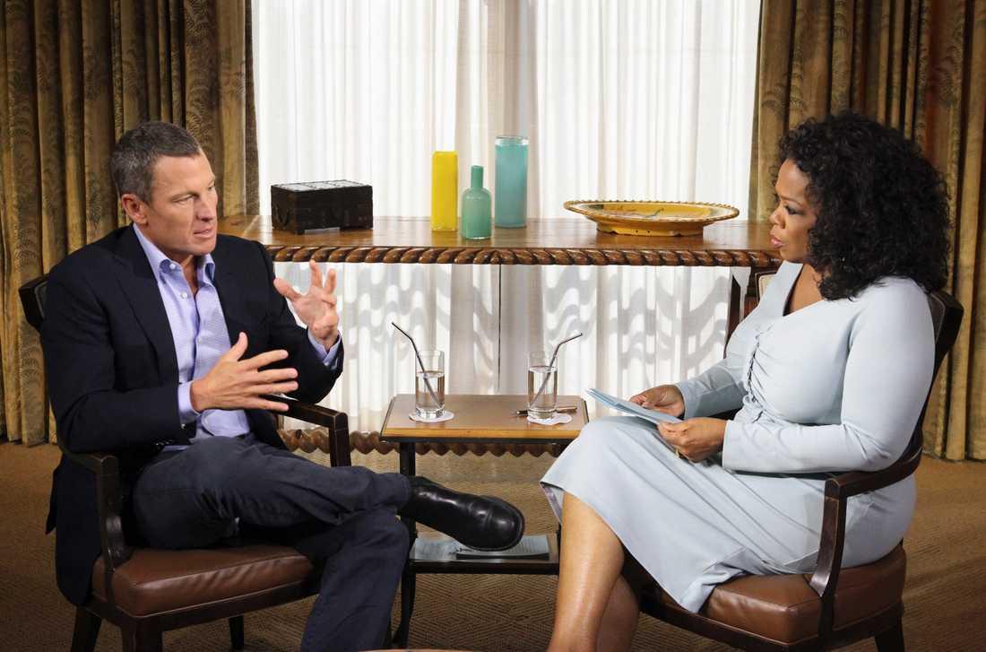 Lance Armstrong medgav att han dopat sig i en intervju med Oprah Winfrey 2013.