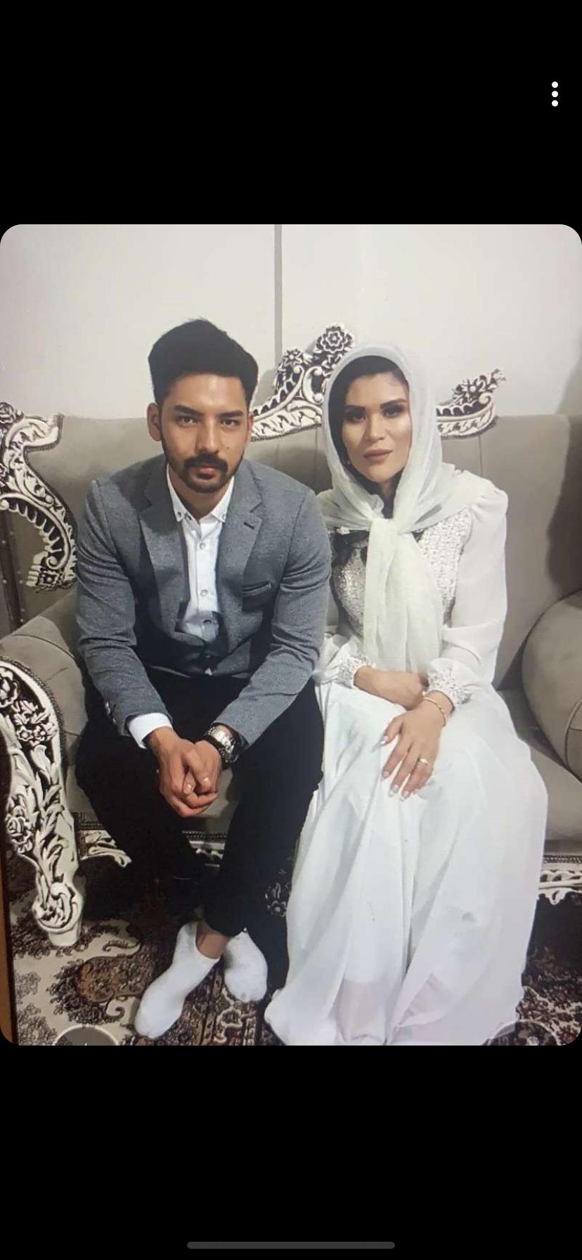 """Rahimeh """"Somaya"""" Katebi och Hussein Rezaie passade på att förlova sig under julresan till Iran."""