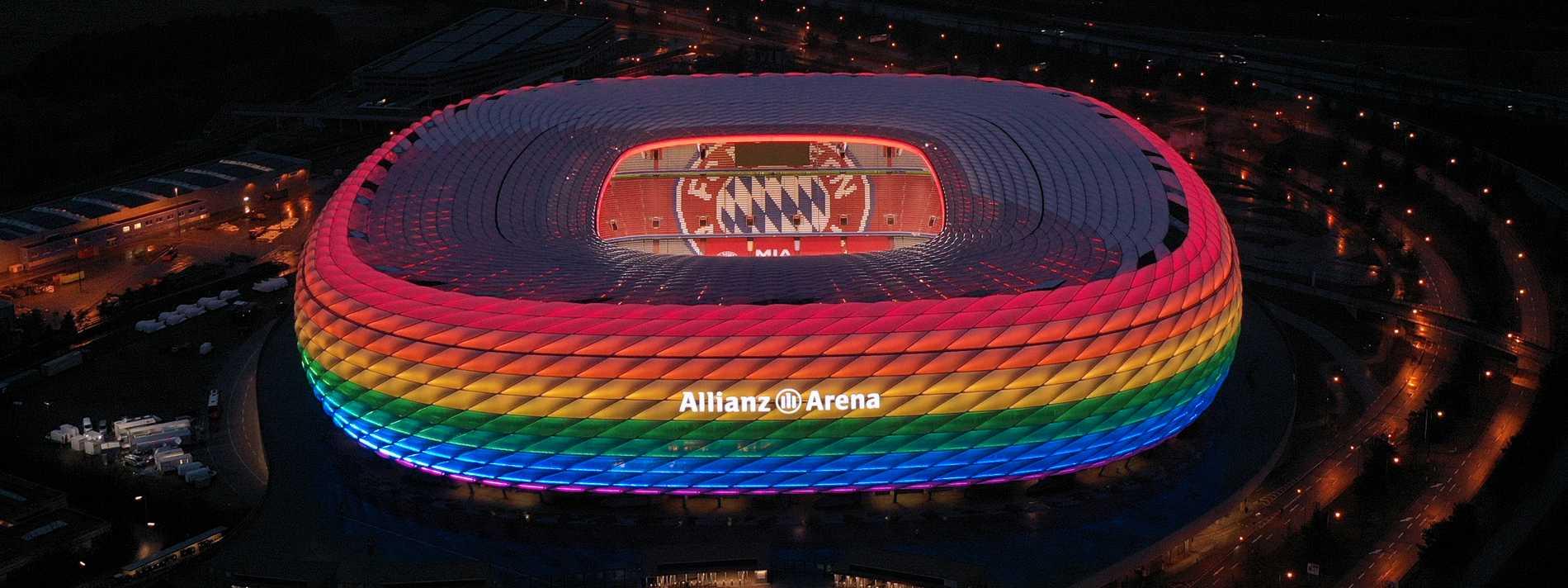 Arrangören ville lysa upp hela Allianz Arena i regnbågens färger till den avslutande gruppspelsmatchen mellan Tyskland och Ungern men fick nej av Uefa.