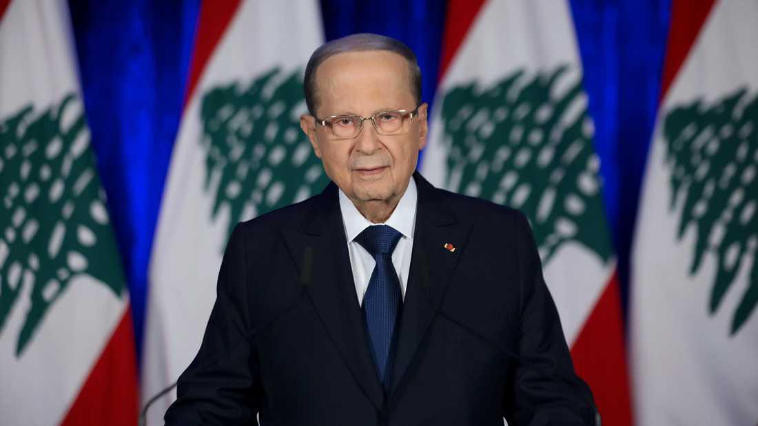 Libanons president Michel Aoun