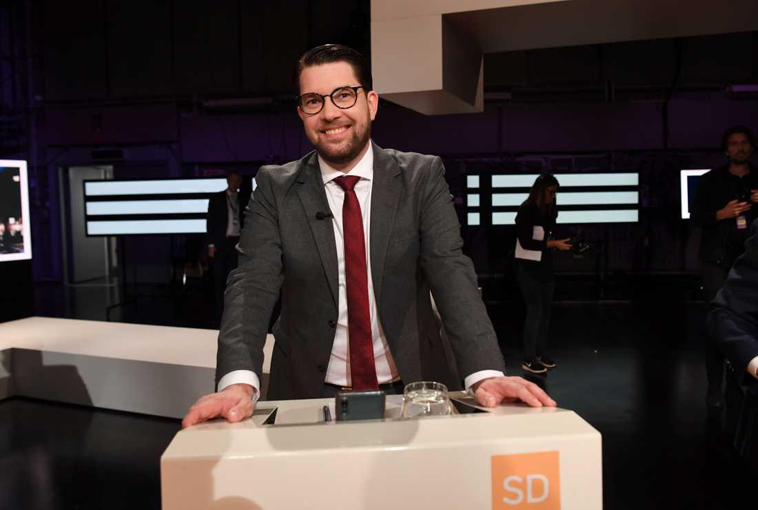 Sverigedemokraternas partiledare Jimmie Åkesson har anledning att glädjas åt den nya sammanställningen.
