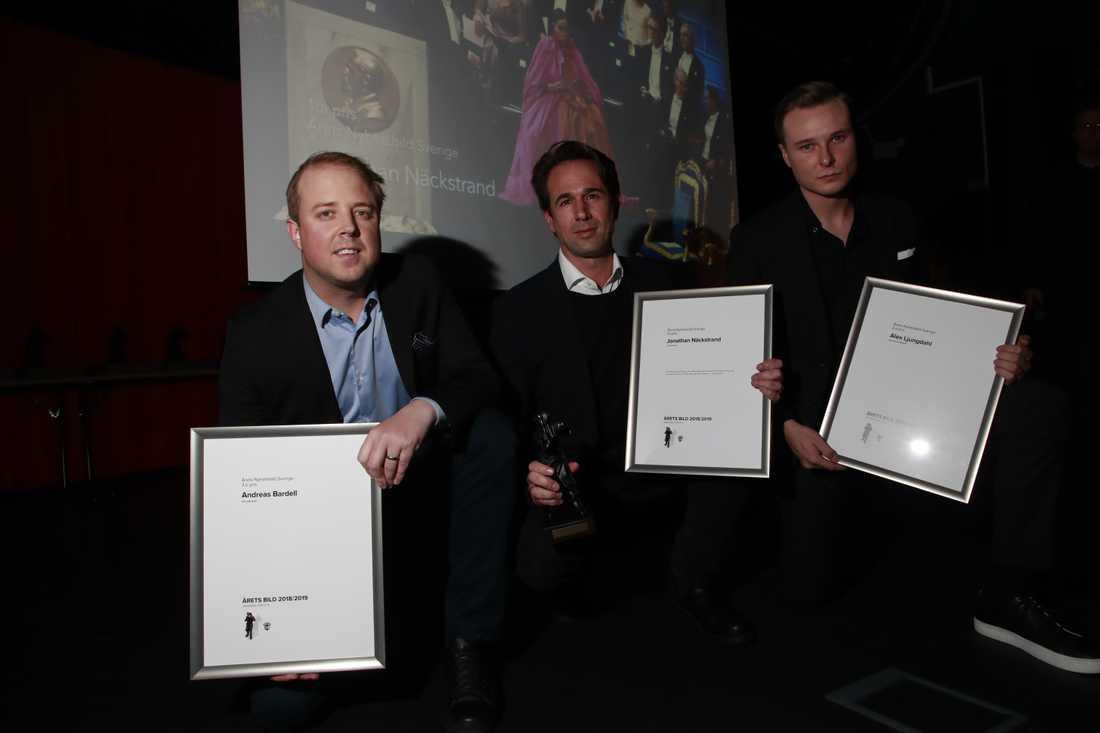 Andreas Bardell, Jonathan Nackstrand och Alex Ljungdahl