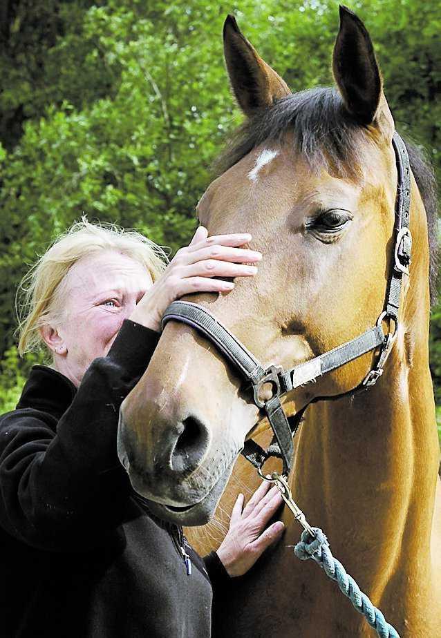 ett sista farväl Hopphästen Afrodites ägare Maria Lindgren tar avsked av det 15-åriga stoet.