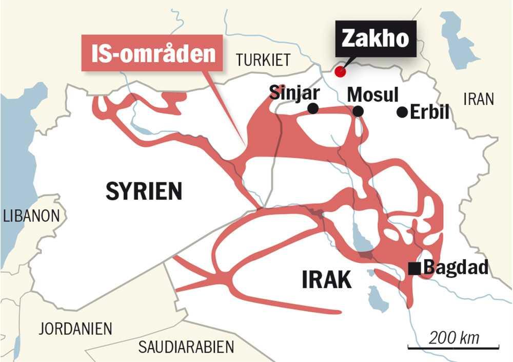IS-kontrollerade områden.