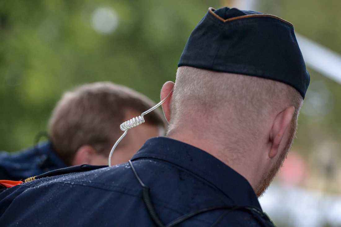 Polisen sätter in fler uniformerade poliser än i fjol i samband med Almedalsveckans många manifestationer. Arkivbild.