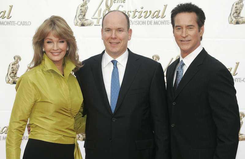 """""""Våra bästa år""""-stjärnan Deidre Hall träffade Monacos furst Albert å seriens vägnar 2008."""