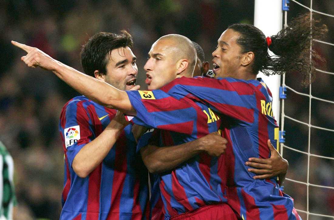 Deco, Henrik Larsson och Ronaldinho 2006.