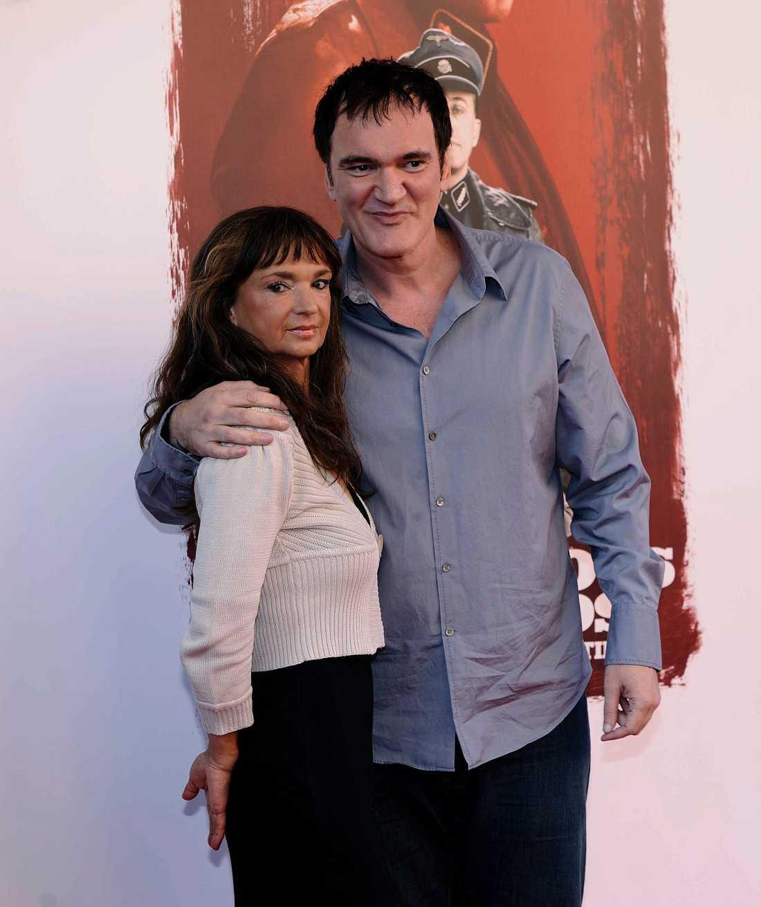 """Christina Lindberg med Quentin Tarantino på premiären av """"Inglourious Bastards"""" 2009."""