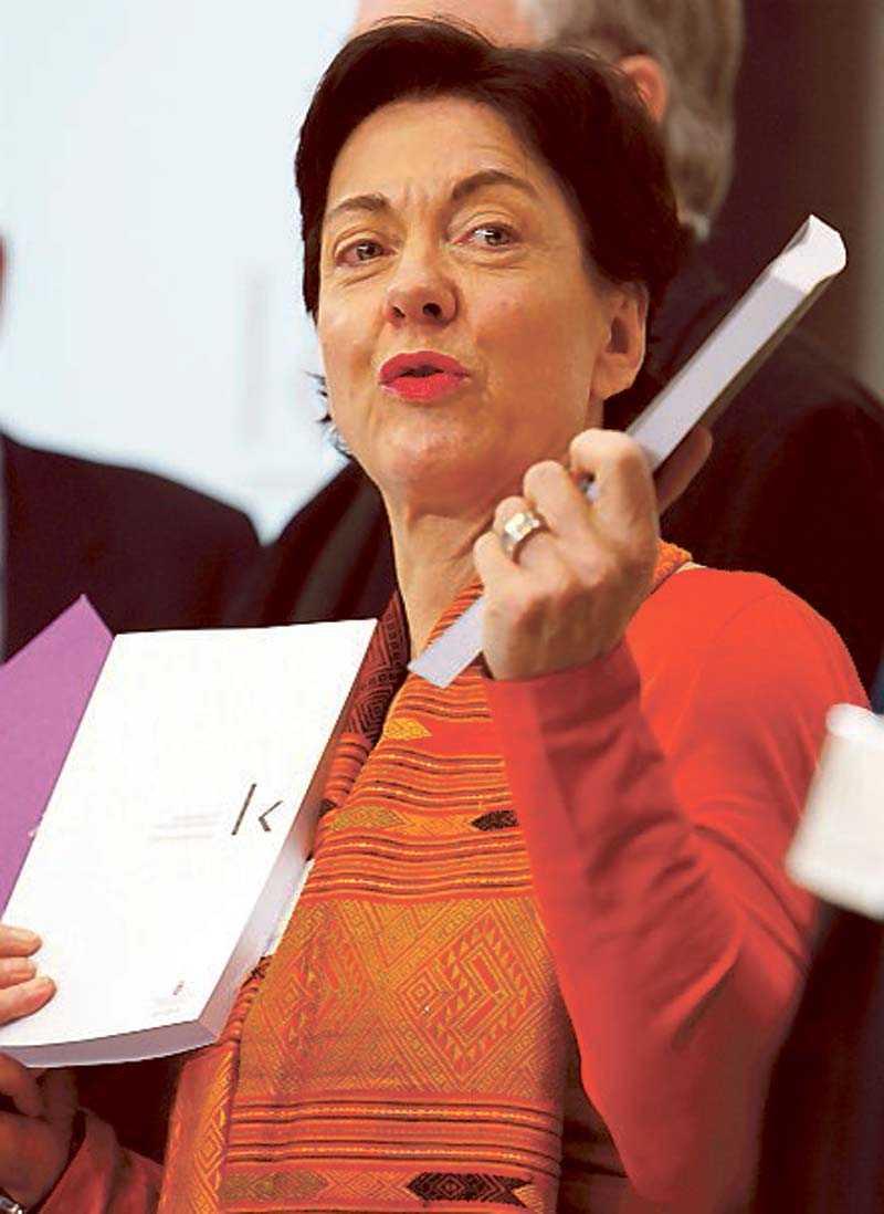 Eva Swartz Grimaldi presenterade kulturutredningen.